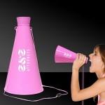 "Pink 9"" Plastic Megaphone Custom Imprinted"