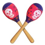 Custom Printed Day Of The Dead Maracas