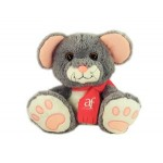 "10"" Scurry Mouse Stuffed Animal w/Scarf & One Color Imprint Custom Imprinted"