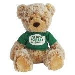 """16"""" Caramel Bear with shirt and 1 color imprint Custom Personalized"""