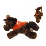 "8"" Chestnut Horse Stuffed Animal w/Bandana & One Color Imprint Custom Personalized"