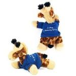 "8"" Gigi Giraffe Stuffed Animal w/T-shirt & One Color Imprint Custom Imprinted"