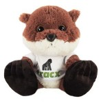 """Custom Imprinted 10"""" Chit Chat Otter with t-shirt and full color imprint"""
