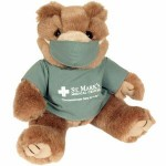 "8"" Green Scrubs Bear Stuffed Animal w/One Color Imprint Custom Personalized"