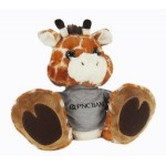 "Logo Printed 10"" Safari Giraffe Stuffed Animal w/T-Shirt & One Color Imprint"