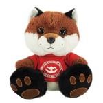 "Logo Printed 10"" Trickster Fox Stuffed Animal w/T-Shirt & One Color Imprint"