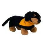 "Logo Printed 8"" Vienna Dachshund Dog Stuffed Animal w/Bandana & One Color Imprint"