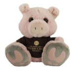 "Logo Printed 10"" Snortster Pig Stuffed Animal w/T-Shirt & One Color Imprint"
