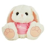 "Custom Personalized 10"" Hoppity Bunny Stuffed Animal w/T-shirt & One Color Imprint"