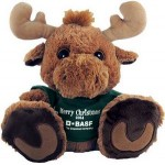 "Logo Printed 10"" Maple Moose Stuffed Animal w/T-Shirt & One Color Imprint"