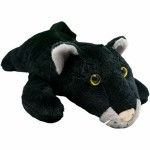"Custom Imprinted 8"" Black Panther Stuffed Animal"