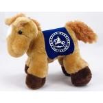 "8"" Prancer Horse Stuffed Animal w/Saddle & One Color Imprint Custom Personalized"