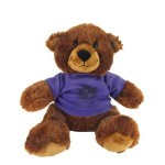 """11"""" Buxley Bear with t-shirt and one color imprint Custom Personalized"""