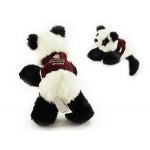 "Custom Imprinted 8"" Mei Mei Panda Stuffed Animal w/Vest & One Color Imprint"