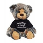 "Logo Printed 14"" Brindle Bear with shirt and 1 color imprint"