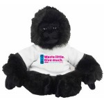 """11"""" Gorilla with t-shirt and full color imprint Custom Personalized"""