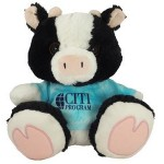 """Custom Imprinted 10"""" Milkshake Cow with t-shirt and one color imprint"""