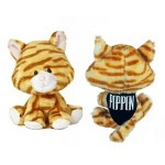 """Logo Printed 6"""" Terry WB Tabby Cat with bandana and one color imprint"""