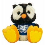 "Custom Imprinted 10"" Winks Owl Stuffed Animal w/T-shirt & One Color Imprint"