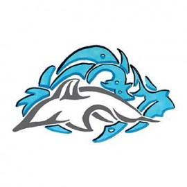 Tribal Dolphin Temporary Tattoo Logo Printed
