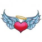 Angel Heart Temporary Tattoo Custom Imprinted