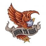Born To Ride Temporary Tattoo Logo Printed
