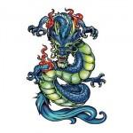 Chinese Dragon Temporary Tattoo Custom Imprinted