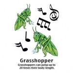 Cartoon Grasshopper Temporary Tattoo Custom Personalized