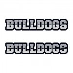 Bulldogs Text Temporary Tattoo Custom Imprinted