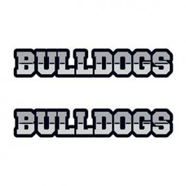 Bulldogs Text Temporary Tattoo Custom Imprinted