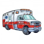Ambulance Temporary Tattoo Logo Printed