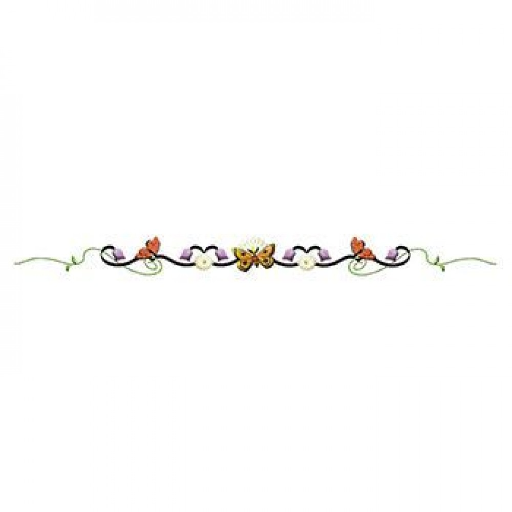 Butterfly Floral Tulip Band Custom Imprinted