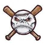Baseball and Bats Temporary Tattoo Logo Printed