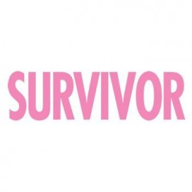 Breast Cancer: Survivor (Pink Glitter) Temporary Tattoo Custom Imprinted