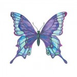 Blue Butterfly Temporary Tattoo Custom Imprinted