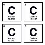 Carbon Temporary Tattoo Logo Printed