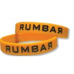 Logo Branded Debossed Silicone Wristband with Color Filling