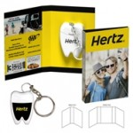 Tek Booklet with Tooth Shaped Dental Floss With Key Chain Custom Imprinted