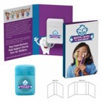 Custom Printed Tek Booklet with Traditional Rectangular Shaped Dental Floss
