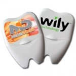 Large Tooth Shaped Dental Floss Custom Printed