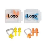 Logo Branded Silicone Swimming Set Earplug & Nasal Splint