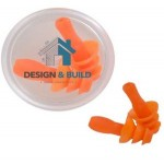 Custom Imprinted Safety Earplugs in Clear Case