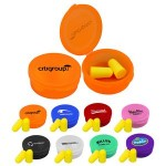 Logo Branded Ear Protection in Round Case