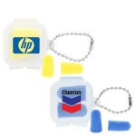 Logo Branded Soft Foam Earplugs in Reusable Case