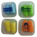 Logo Branded Foam Ear Plugs In Clear Case