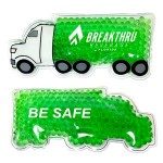 Logo Branded Green Semi Truck Hot/ Cold Pack with Gel Beads