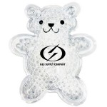 Custom Printed White Teddy Bear Hot/ Cold Pack with Gel Beads