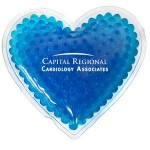 Custom Printed Blue Heart Hot/ Cold Pack with Gel Beads