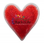Custom Printed Heart Gel Bead Hot/Cold Pack (Full Color Digital)