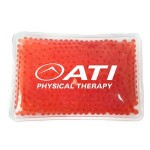 Custom Imprinted Rectangular Red Hot/ Cold Pack with Gel Beads